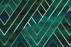 P014-VD3 cikkszámú tapéta.Absztrakt,arany,türkiz,vlies poszter, fotótapéta