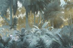 P015-VD4 cikkszámú tapéta.Természeti mintás,barna,kék,zöld,vlies poszter, fotótapéta