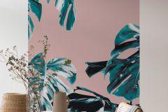 P016B-VD1 cikkszámú tapéta.Pink-rózsaszín,zöld,vlies poszter, fotótapéta