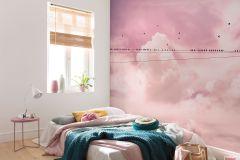 P017-VD4 cikkszámú tapéta.állatok,természeti mintás,pink-rózsaszín,vlies poszter, fotótapéta