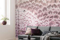 P028-VD2 cikkszámú tapéta.Absztrakt,barna,pink-rózsaszín,vlies poszter, fotótapéta