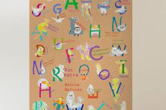 P036-VD1 cikkszámú tapéta.Feliratos-számos,gyerek,barna,fehér,kék,lila,narancs-terrakotta,piros-bordó,sárga,szürke,zöld,vlies poszter, fotótapéta