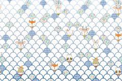 P037A-VD5 cikkszámú tapéta.állatok,geometriai mintás,gyerek,bézs-drapp,fehér,kék,lila,narancs-terrakotta,pink-rózsaszín,szürke,zöld,vlies poszter, fotótapéta