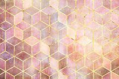 P092A-VD2 cikkszámú tapéta.Geometriai mintás,arany,lila,pink-rózsaszín,vlies poszter, fotótapéta