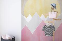 P110A-VD2 cikkszámú tapéta.Absztrakt,bézs-drapp,fehér,pink-rózsaszín,sárga,szürke,vlies poszter, fotótapéta