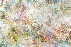 P334-VD4 cikkszámú tapéta.Absztrakt,fehér,narancs-terrakotta,pink-rózsaszín,piros-bordó,sárga,szürke,türkiz,vlies poszter, fotótapéta