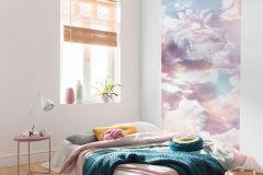 P6027A-VD1 cikkszámú tapéta.Fehér,kék,lila,pink-rózsaszín,vlies poszter, fotótapéta