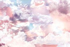 P6027A-VD3 cikkszámú tapéta.Fehér,kék,lila,pink-rózsaszín,vlies poszter, fotótapéta