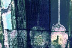 PRH-0432 cikkszámú tapéta.Absztrakt,fekete,kék,lila,zöld,vlies poszter, fotótapéta
