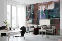 PRH-0712 cikkszámú tapéta.Absztrakt,barna,fehér,fekete,lila,piros-bordó,zöld,vlies poszter, fotótapéta