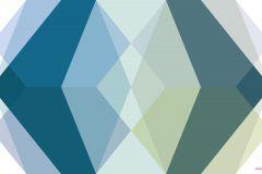 PRH-1106 cikkszámú tapéta.Absztrakt,kék,türkiz,zöld,vlies poszter, fotótapéta