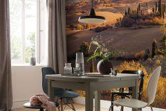 PSH094-VD4 cikkszámú tapéta.Fotórealisztikus,tájkép,barna,kék,narancs-terrakotta,zöld,vlies poszter, fotótapéta