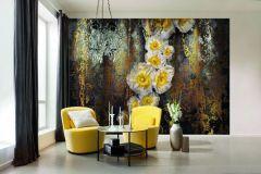 8-963 cikkszámú tapéta.Természeti mintás,virágmintás,arany,barna,bronz,ezüst,sárga,papír poszter, fotótapéta