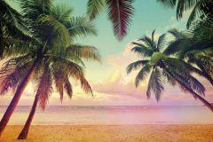 8-967 cikkszámú tapéta.Fotórealisztikus,tájkép,természeti mintás,barna,kék,lila,narancs-terrakotta,pink-rózsaszín,zöld,papír poszter, fotótapéta