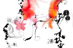 V3-756 cikkszámú tapéta.Absztrakt,emberek-sztárok,természeti mintás,fehér,fekete,narancs-terrakotta,piros-bordó,vlies poszter, fotótapéta