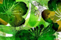 V7-757 cikkszámú tapéta.Fehér,fekete,zöld,vlies poszter, fotótapéta