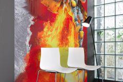 4-440 cikkszámú tapéta.Emberek-sztárok,különleges motívumos,rajzolt,arany,narancs-terrakotta,piros-bordó,szürke,gyengén mosható,papír poszter, fotótapéta