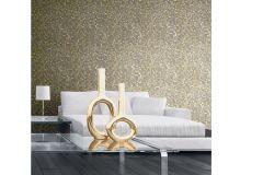 57507 cikkszámú tapéta.Absztrakt,geometriai mintás,különleges felületű,metál-fényes,arany,szürke,súrolható,vlies tapéta