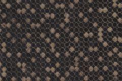 57508 cikkszámú tapéta.Absztrakt,geometriai mintás,különleges felületű,metál-fényes,bronz,fekete,súrolható,vlies tapéta