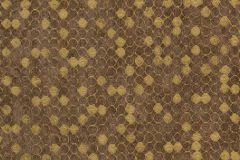57509 cikkszámú tapéta.Absztrakt,geometriai mintás,különleges felületű,metál-fényes,arany,barna,súrolható,vlies tapéta