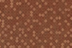 57510 cikkszámú tapéta.Absztrakt,geometriai mintás,különleges felületű,metál-fényes,narancs-terrakotta,súrolható,vlies tapéta