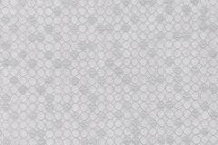 57511 cikkszámú tapéta.Absztrakt,geometriai mintás,különleges felületű,metál-fényes,ezüst,szürke,súrolható,vlies tapéta