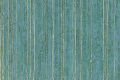 57703 cikkszámú tapéta.Csíkos,dekor,különleges felületű,metál-fényes,arany,kék,türkiz,zöld,súrolható,illesztés mentes,vlies tapéta