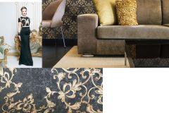46508 cikkszámú tapéta.Barokk-klasszikus,különleges felületű,arany,fekete,súrolható,vlies tapéta