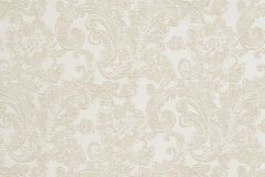 46801 cikkszámú tapéta.Barokk-klasszikus,különleges felületű,textil hatású,bézs-drapp,fehér,súrolható,vlies tapéta