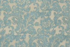 46803 cikkszámú tapéta.Barokk-klasszikus,különleges felületű,textil hatású,bézs-drapp,türkiz,súrolható,vlies tapéta