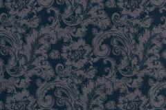 46804 cikkszámú tapéta.Barokk-klasszikus,különleges felületű,textil hatású,kék,szürke,súrolható,vlies tapéta