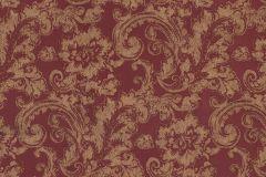 46805 cikkszámú tapéta.Barokk-klasszikus,különleges felületű,textil hatású,arany,piros-bordó,súrolható,vlies tapéta