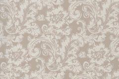46806 cikkszámú tapéta.Barokk-klasszikus,különleges felületű,textil hatású,bézs-drapp,súrolható,vlies tapéta