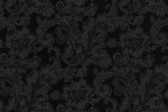 46808 cikkszámú tapéta.Barokk-klasszikus,különleges felületű,fekete,súrolható,vlies tapéta