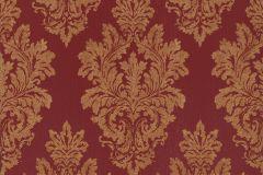 46905 cikkszámú tapéta.Barokk-klasszikus,különleges felületű,textil hatású,arany,piros-bordó,súrolható,vlies tapéta