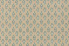 47003 cikkszámú tapéta.Barokk-klasszikus,különleges felületű,textil hatású,bézs-drapp,türkiz,súrolható,vlies tapéta