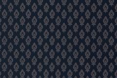 47004 cikkszámú tapéta.Barokk-klasszikus,különleges motívumos,textil hatású,kék,szürke,súrolható,vlies tapéta