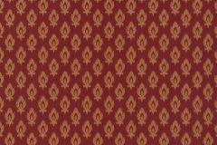 47005 cikkszámú tapéta.Barokk-klasszikus,különleges felületű,textil hatású,arany,piros-bordó,súrolható,vlies tapéta