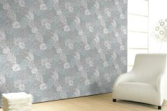 30435 cikkszámú tapéta.Absztrakt,különleges felületű,természeti mintás,fehér,kék,lila,zöld,súrolható,vlies tapéta