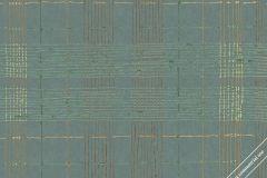 30437 cikkszámú tapéta.Absztrakt,geometriai mintás,különleges felületű,arany,narancs-terrakotta,zöld,súrolható,vlies tapéta