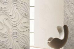 56319 cikkszámú tapéta.Absztrakt,különleges felületű,különleges motívumos,textil hatású,ezüst,szürke,lemosható,vlies tapéta