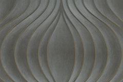 56323 cikkszámú tapéta.Absztrakt,különleges felületű,különleges motívumos,textil hatású,szürke,arany,barna,fekete,lemosható,vlies tapéta
