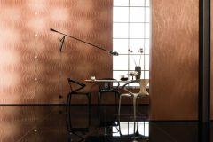 56314 cikkszámú tapéta.Absztrakt,különleges felületű,különleges motívumos,textil hatású,barna,bronz,piros-bordó,lemosható,vlies tapéta