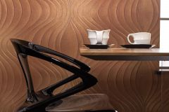 56326 cikkszámú tapéta.Absztrakt,különleges felületű,különleges motívumos,textil hatású,barna,bronz,lemosható,vlies tapéta