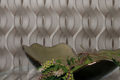 59804 cikkszámú tapéta.3d hatású,absztrakt,különleges felületű,különleges motívumos,metál-fényes,barna,ezüst,szürke,zöld,lemosható,vlies tapéta