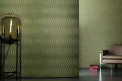 59823 cikkszámú tapéta.3d hatású,absztrakt,különleges felületű,metál-fényes,zöld,lemosható,vlies tapéta