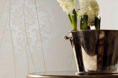 63333 cikkszámú tapéta.Barokk-klasszikus,különleges felületű,különleges motívumos,retro,ezüst,szürke,illesztés mentes,lemosható,vlies tapéta