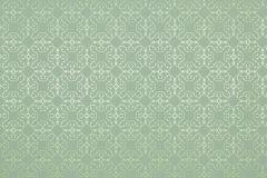 55701 cikkszámú tapéta.Absztrakt,kockás,metál-fényes,retro,textil hatású,textilmintás,ezüst,türkiz,zöld,lemosható,vlies tapéta