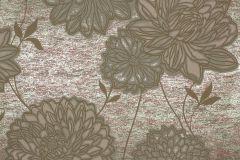 55740 cikkszámú tapéta.Metál-fényes,virágmintás,barna,bronz,lemosható,vlies tapéta