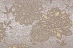 55742 cikkszámú tapéta.Metál-fényes,virágmintás,barna,bézs-drapp,bronz,lemosható,vlies tapéta